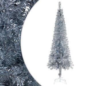 Árvore de Natal fina 180 cm prateado  - PORTES GRÁTIS