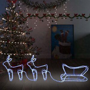 Decoração de Natal rena e trenó de exterior 576 luzes LED - PORTES GRÁTIS