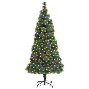 Árvore Natal artificial c/ luzes LED/suporte 240 cm PET verde - PORTES GRÁTIS