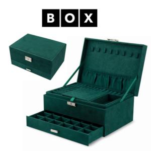 Caixa de Arrumação para Jóias Verde | Acabamento Premium | PD119