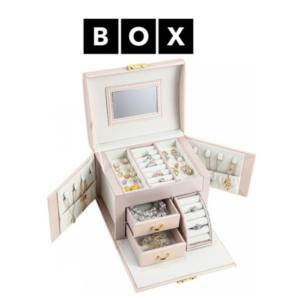 Caixa de Arrumação para Jóias Rosa | Acabamento Premium | PD120PR