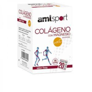 Complemento Alimentar Amlsport Colagénio Magnésio Vitamina C (20 uds)
