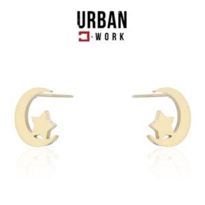 Urban Work Brincos de Aço Inoxidável KST2130